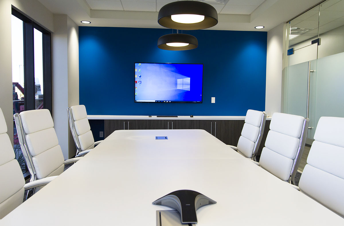 Business Meeting room with 65in display